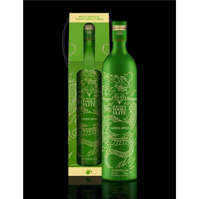 Atelier Du Barman   Vodka Royal Dragon Elite Green Apple+ GB 70cl 40°